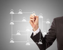 Social media structure Stock Image