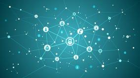 Social Media-Strukturnetz-Zusammenfassungshintergrund Stockfoto