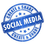 Social media symbol Royalty Free Stock Photos