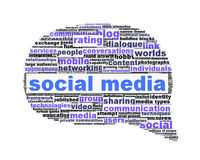 Social media symbol conceptual design isolated on. White Royalty Free Stock Photo