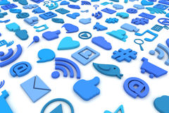 Social media symbols background Stock Photo