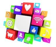 Social media symbols vector illustration