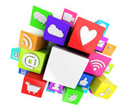 Social media symbols Stock Images