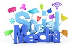Social media symbols. 3d render Royalty Free Stock Image