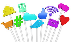 Social media symbols Stock Photography