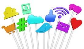 Social media symbols stock illustration