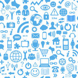 Seamless social media. Social media symbols, seamless background Royalty Free Stock Photography
