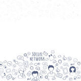 Social Media symbols for Social Networking concept. Stock Image