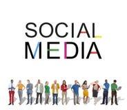 Social Media-Technologie-globale Kommunikations-Konzept Lizenzfreies Stockbild