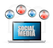 Social media technology connection communication Royalty Free Stock Photos