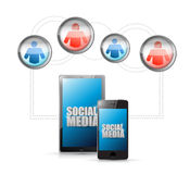 Social media technology connection communication Stock Image