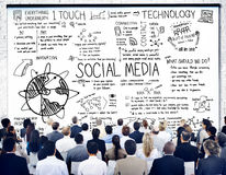 Social Media Technology Global Communication Concept Stock Photography