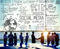 Social Media Technology Global Communication Concept Royalty Free Stock Photos