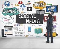 Social Media Technology Global Communication Concept Stock Photos