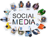 Social Media Technology Global Communication Concept Stock Images