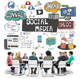 Social Media Technology Global Communication Concept Royalty Free Stock Photography