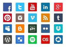 Social media and technology icon set royalty free illustration