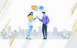 Social media technology. Social network. Online Community. Flat cartoon illustration vector graphic. On white background vector illustration