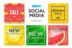 social media templates summer sale create stories for brands and