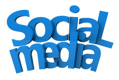 Social media text 3d Royalty Free Stock Photos