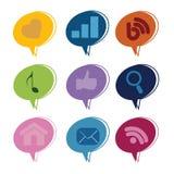 Social media text box Royalty Free Stock Photography