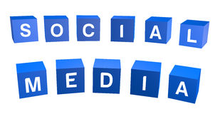 Social media text Stock Images