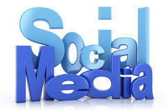 Social media text Stock Photos