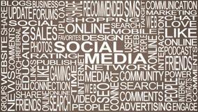 Social media theme. Social media words concept. Stock Image