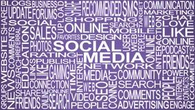 Social media theme. Social media words concept. Stock Photography