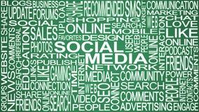 Social media theme. Social media words concept. Stock Photo
