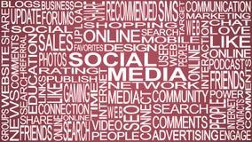 Social media theme. Social media words concept. Royalty Free Stock Photo