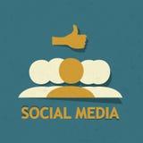 Social Media Thumb Up Stock Images