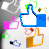Social media thumb up icons Stock Image