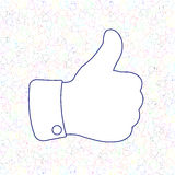 Social Media Thumb Up Like Background Royalty Free Stock Photos