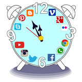 Social media time spending Royalty Free Stock Photos