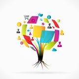 Social media tree. Social media abstract tree concept vector illustration Royalty Free Stock Photos