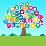 Social media tree Stock Image