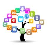 Social media tree. Vector illustration Stock Images
