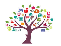 Social media tree Stock Photos