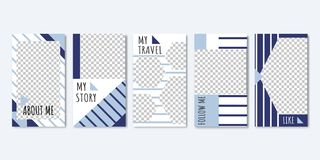 Social Media Templates for Photos from Travel. royalty free illustration
