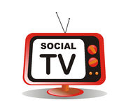 Social media tv vector illustration