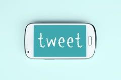 Social Media Tweet Stock Photos