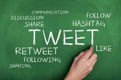 Social Media Tweet Stock Photo
