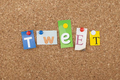 Social Media Tweet Stock Photo