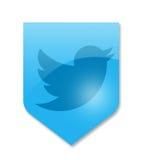 Social media twitter. Sign on white Stock Images