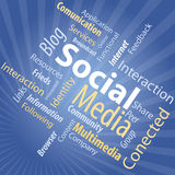 Social Media Type. Word Cloud Illustration of Social Media Royalty Free Stock Photo