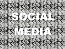 Social media word in background with icon set Stock Photography