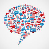 Social media US election icons concept Stock Photo