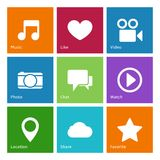 Social media user interface elements Royalty Free Stock Image