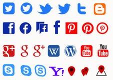 Social media colour vector illustration